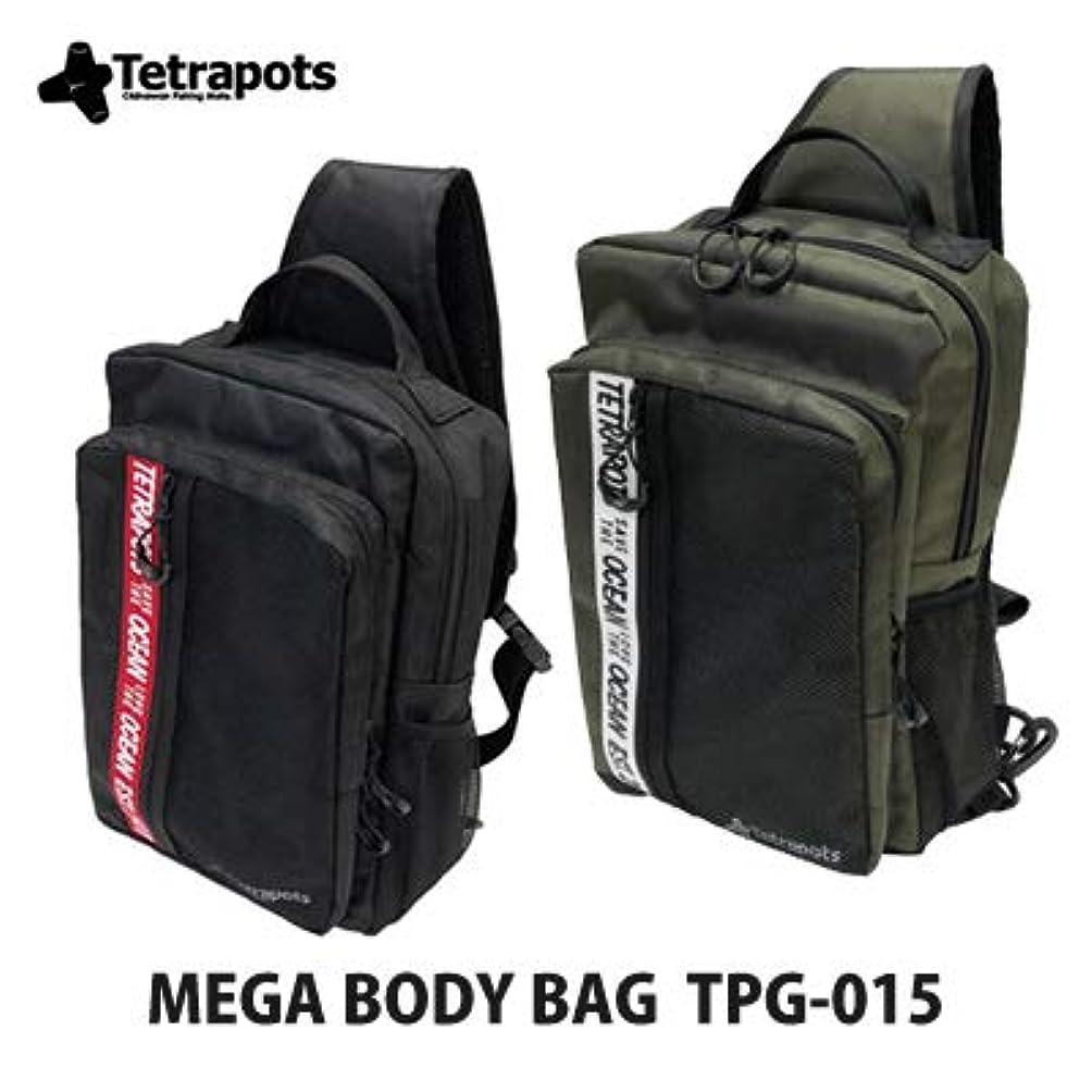 超えて理想的には犯罪テトラポッツ ショルダーバッグ メガボディバッグ TPG-015 (カーキ/メガボディバッグ)