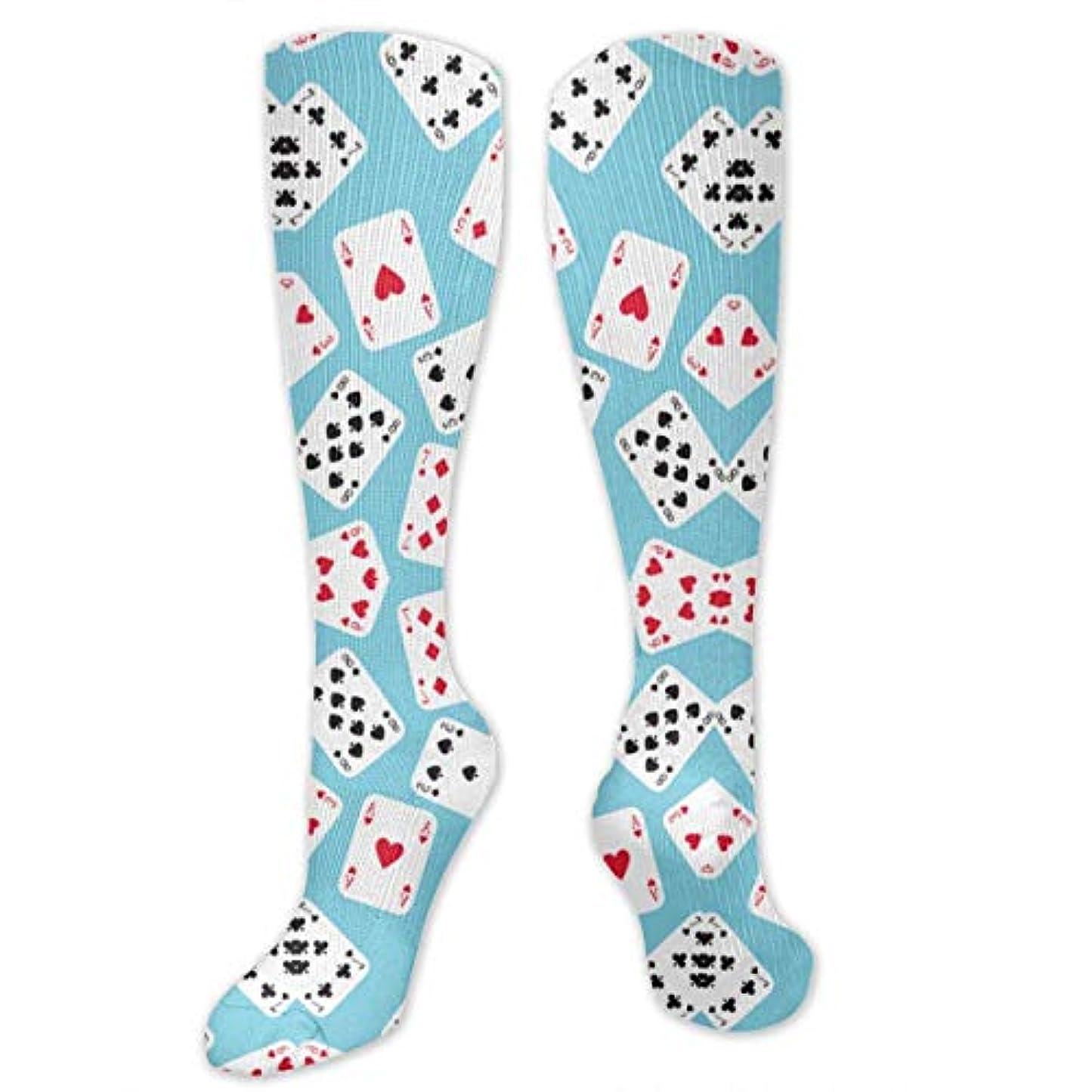 平手打ちアシストだらしない靴下,ストッキング,野生のジョーカー,実際,秋の本質,冬必須,サマーウェア&RBXAA in Wonderland Playing Cards Socks Women's Winter Cotton Long Tube...