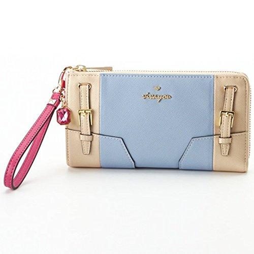 ビバユー(バッグ&ウォレット)(VIVAYOU) 財布(バイカラーL字型長財布)【ライトブルー/**】