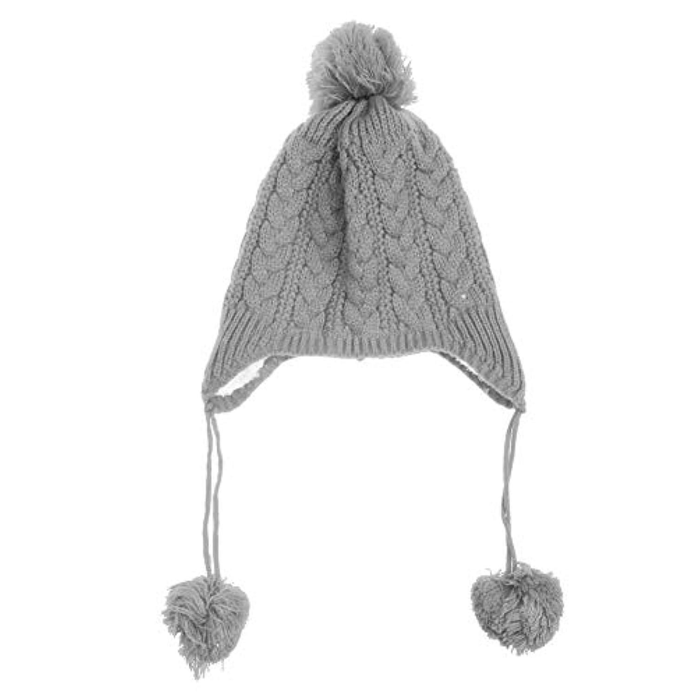 Seawang ベビー帽子 秋冬 赤ちゃん帽子 ニットハット 手編み かわいい やわらかい 肌さわりよく 無地 耳保護 防寒保温 綿 男の子 女の子 キッズ 子供秋冬用