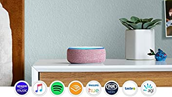 Echo Dot (3rd Gen) – Smart speaker with Alexa - Plum Fabric