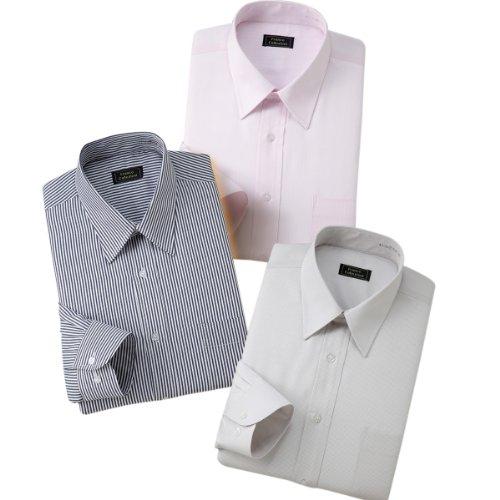 (フランコ コレツィオーニ)Franco Collezioni 防寒ワイシャツ3枚セット(カラー系) 50235  カラー系 3L