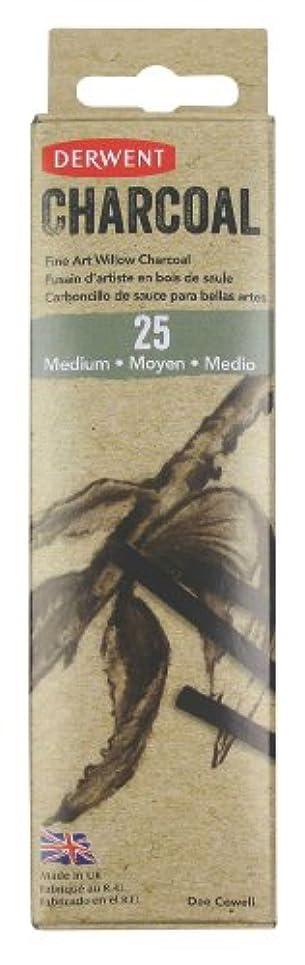デマンド大聖堂管理しますDerwent Medium Willow Charcoal Pack of 25 Natural Willow Sticks