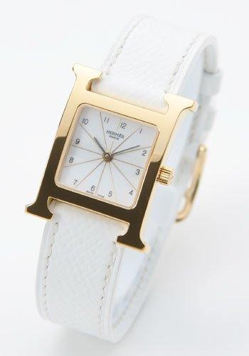 腕時計 Hウォッチ レザー GPホワイト HH1.201.130/UBC レディース [並行輸入品] エルメス