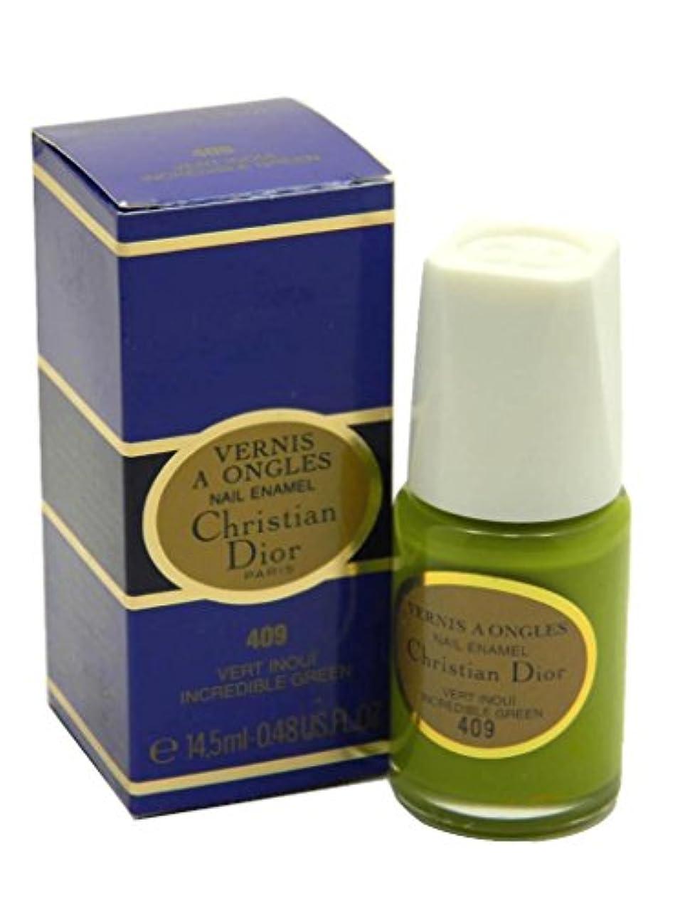 観察する文献肯定的Dior Vernis A Ongles Nail Enamel Polish 409 Incredible Green(ディオール ヴェルニ ア オングル ネイルエナメル ポリッシュ 409 インクレディブルグリーン)...