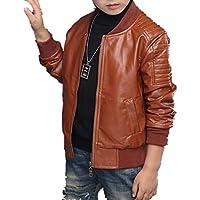 Boys Lightweight Leather Bomber Jackets