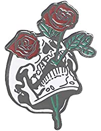 Ruikey 骷髅 ローズブローチピン 花 ブローチ 胸飾り レディース ブローチ コサージュ 結婚式 卒業式 入学式