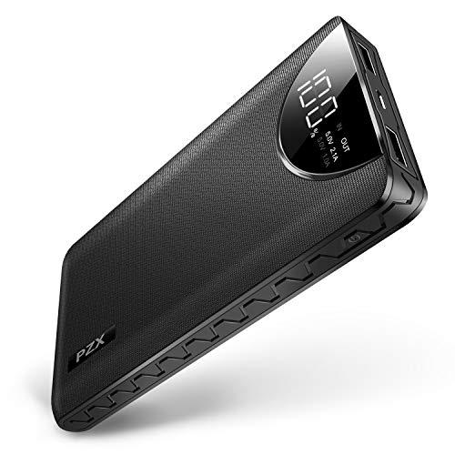 モバイルバッテリー大容量12000mahLCDスクリーン残量表示薄...