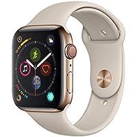 AppleWatch Series4(GPS+Cellularモデル)- 44mmゴールドステンレススチールケースとストーンスポーツバンド
