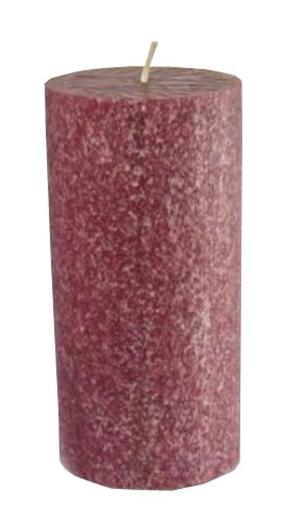 カップル薄いステージルート香りつきTimberline Pillar Candle、3インチby 6インチトール、クランベリー