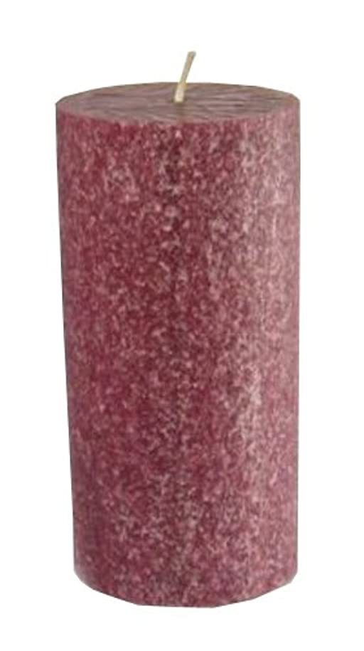 怒って蒸し器花火ルート香りつきTimberline Pillar Candle、3インチby 6インチトール、クランベリー