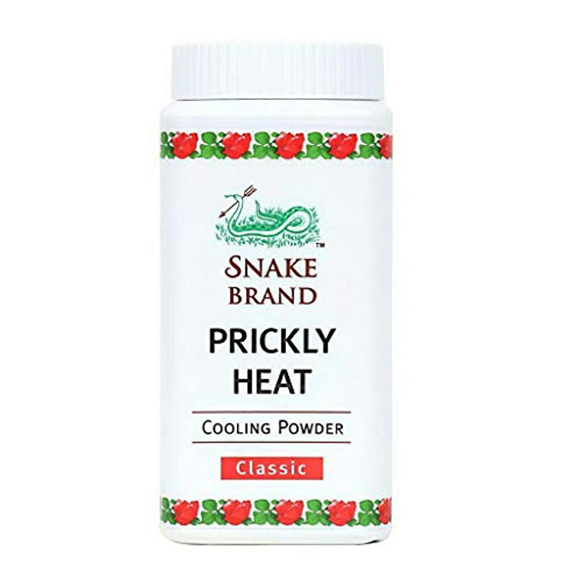 レパートリー登録振る舞うPrickly Heat Cooling Fresh Refreshing Body Powder Skin Moisture Snake Brand Cooling Powder Classic 50g