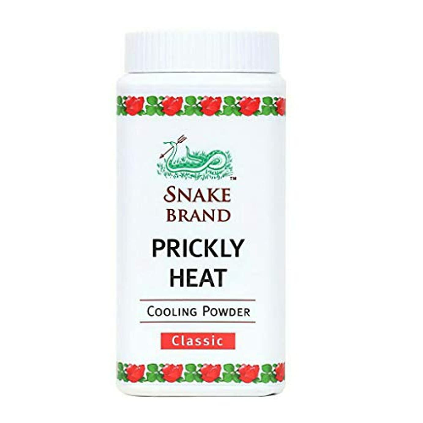 象逆さまに生産性Prickly Heat Cooling Fresh Refreshing Body Powder Skin Moisture Snake Brand Cooling Powder Classic 50g