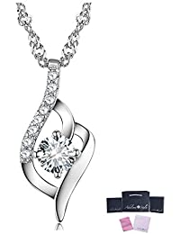 Adelina Style(アデリナスタイル) ネックレス レディース 金属アレルギー対応 925純銀製 ジルコニア シンプル ペンダント チェーン ジュエリー ギフトボックス (シルバー)