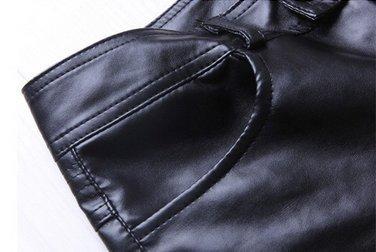 フェイクレザーパンツ ブラック (XXL) スキニー ライダース メンズ スリム 細身 スタイリッシュ 革パンXXL