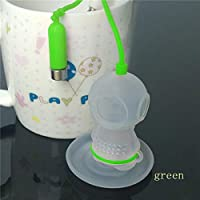 キッチンコーヒー&ティーボールツールランダムカラーディープコーヒーティーインフロースメーカーダイバールーズリーフストレーナーバッグマグカップキッチン:グリーン