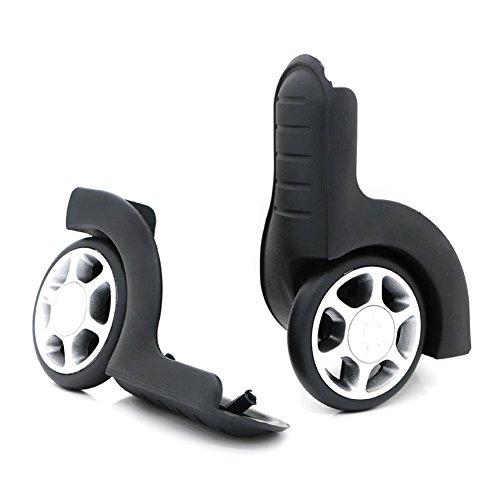 1 ペアスーツケース 交換 ホイール 代用品 静音 キャスター スーツケースキャリーボックスなどの車輪補修用 取替え 代用品 取替え DIY トラベル バッグ ラゲッジ修理 交換 D002