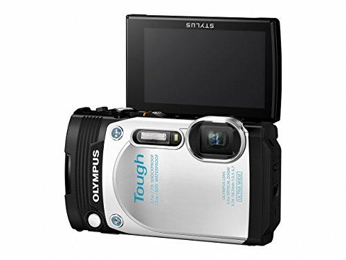 OLYMPUSコンパクトデジタルカメラSTYLUSTG-870Toughホワイト防水性能15m180°可動式液晶TG-870WHT