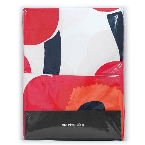 マリメッコ marimekko 布団カバー+枕カバーセット 001 (ウニッコ)シングルサイズ / 150x210 + 50x60cm (レッド) 065228 UNIKKO BED LINEN (Duvet Cover + Pillow Case)