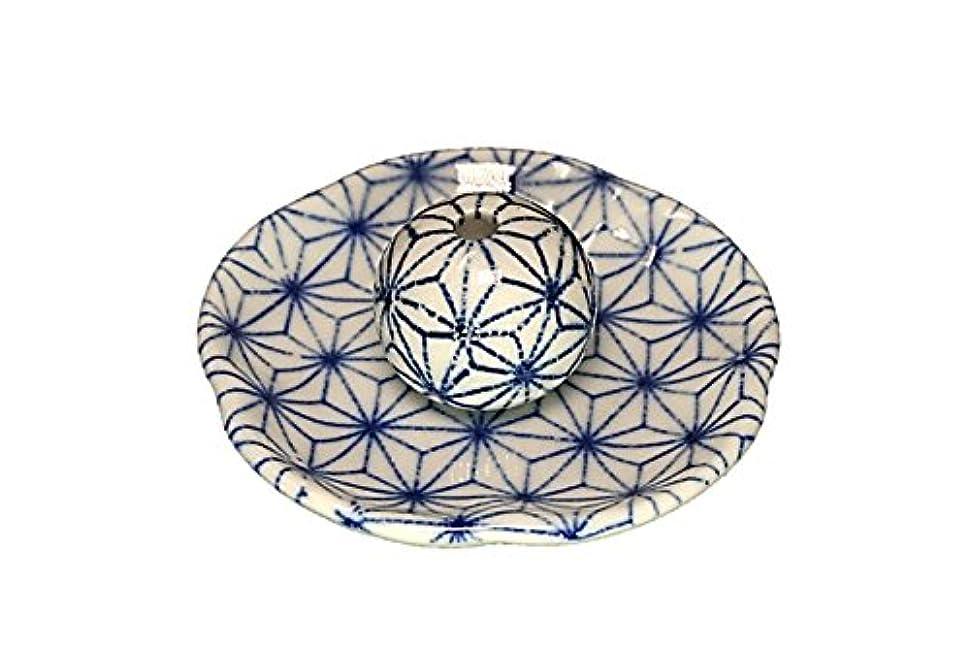 ドル女将縫い目麻葉 花形香皿 お香立て 日本製 製造 直売品