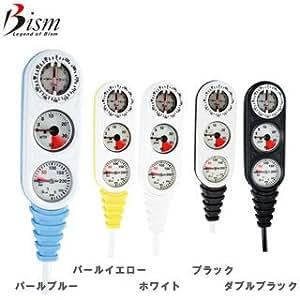 Bism GB2130 3連ゲージ F3(残圧計+コンパス+水深計) パールブルー