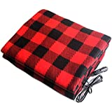 Car Heating Blanket Winter Heated 12V Lattice Energy Saving Warm Auto Electrical Blanket For Car Constant Temperature