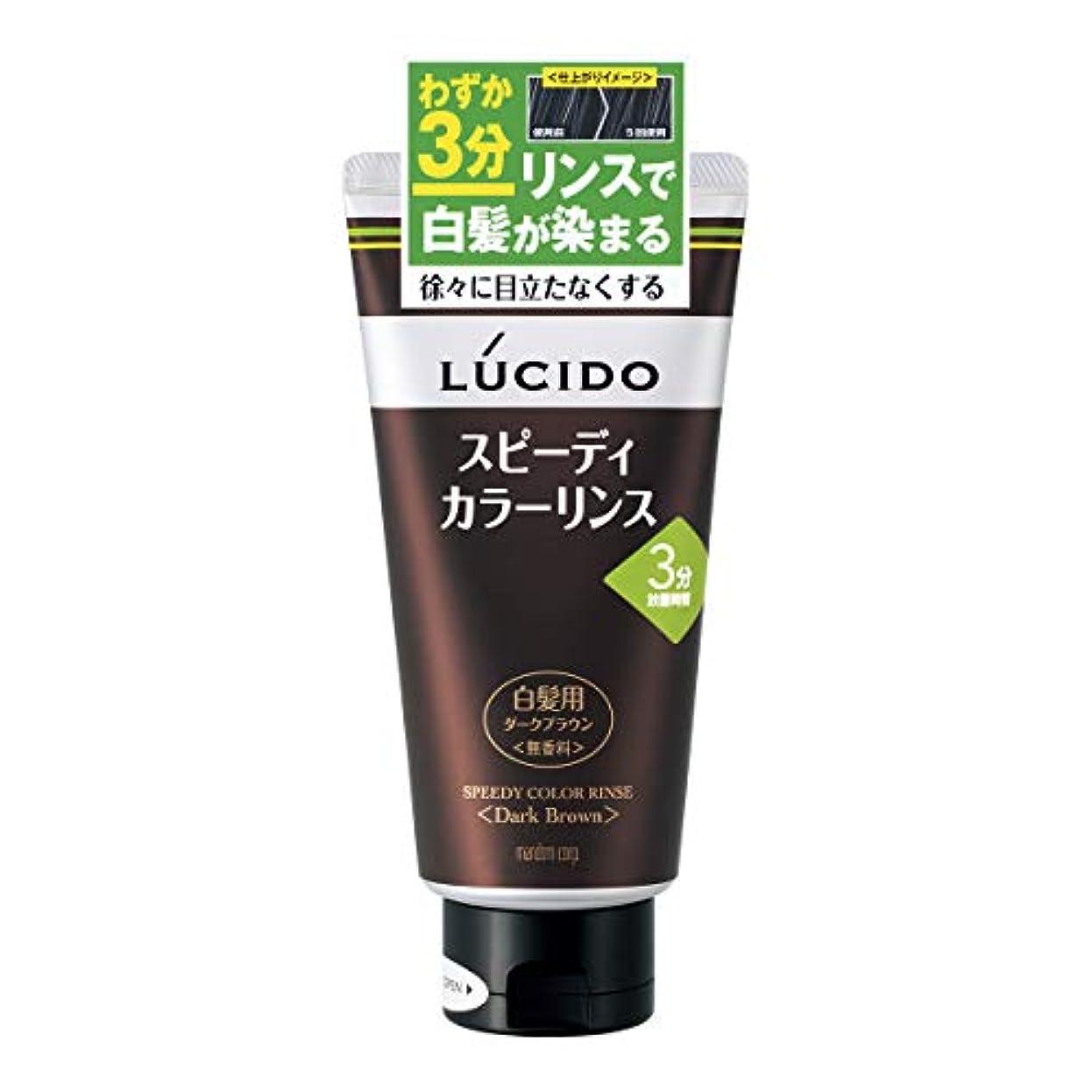 買う綺麗なラックLUCIDO(ルシード) スピーディカラーリンス ダークブラウン 160g リンスで簡単白髪染め