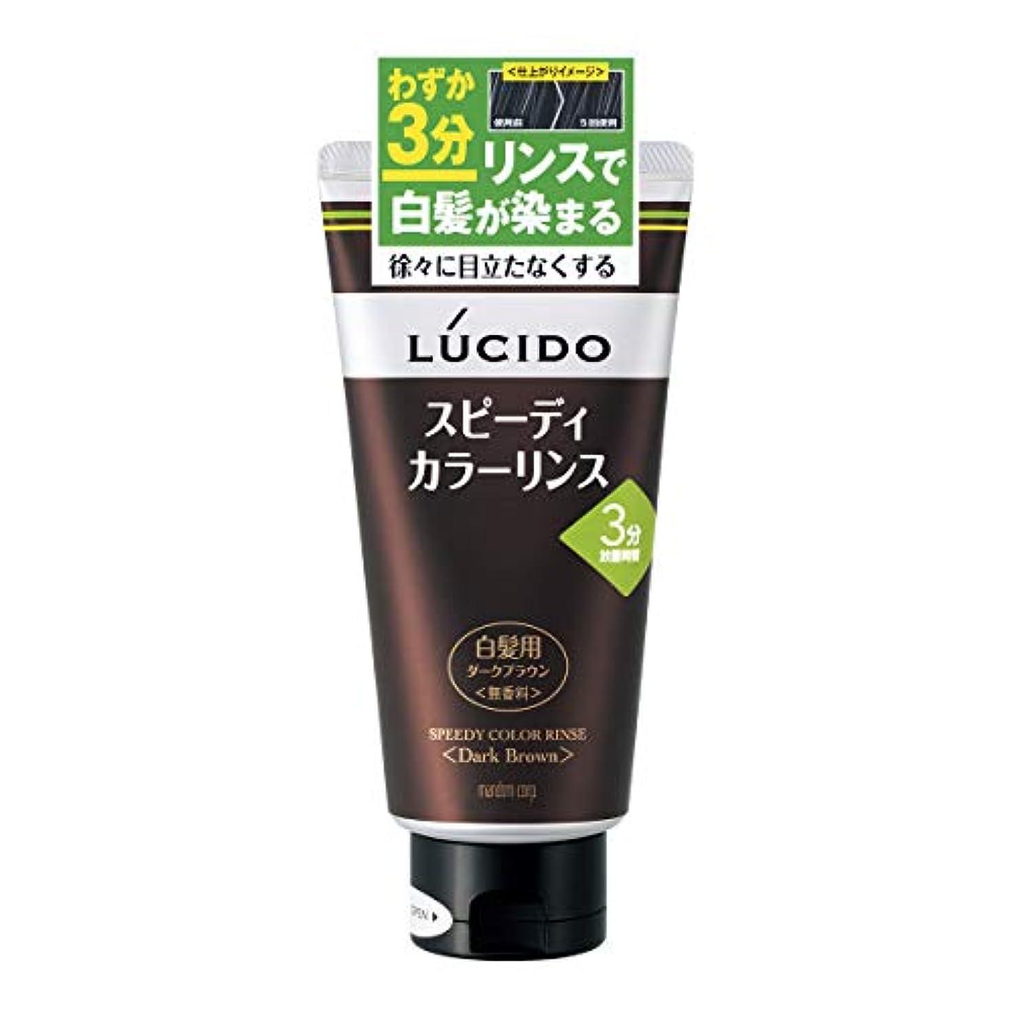 転用のり克服するLUCIDO(ルシード) スピーディカラーリンス ダークブラウン 160g リンスで簡単白髪染め