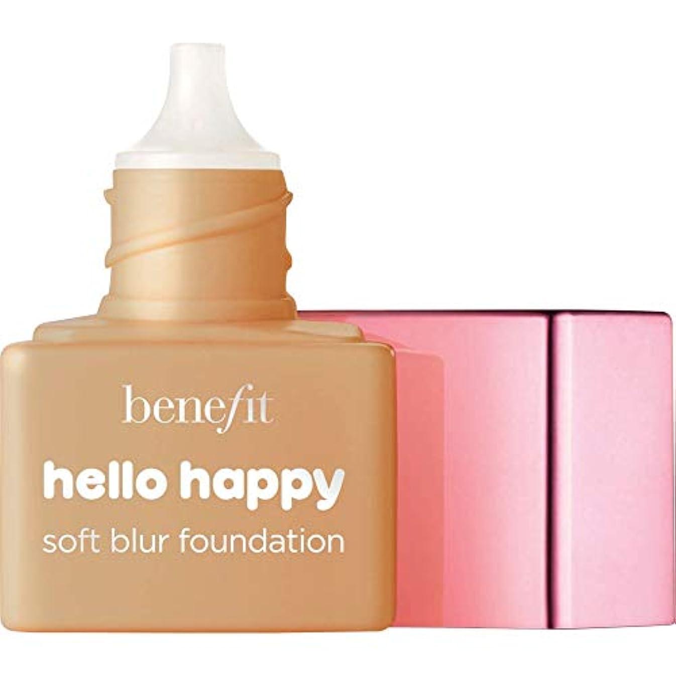 パーセント気取らないデッドロック[Benefit] ミニ6 - - こんにちは幸せソフトブラー基礎Spf15の6ミリリットルの利益温培地 - Benefit Hello Happy Soft Blur Foundation SPF15 6ml - Mini...