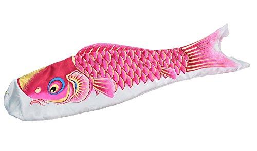 最高級鯉のぼり ロイヤル錦 単品 桃(ピンク)0.8m 撥水仕立 口金具付