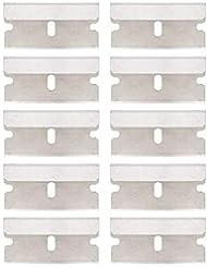 Xijoy 標準的 安全 スクレーパー 用 10 ピース 単 一端 産業 かみそり 刃鋼鉄刃、 ペンキ および デカール 取除く