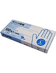 使い捨て ポリLD手袋 半透明 左右兼用 Lサイズ 100枚入 食品衛生法規格基準適合品 TB-154