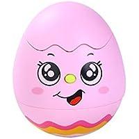 漫画チックTumbler Toy for Kids , Glowing音楽タンブラーベビー玩具ノベルティ教育 ピンク P$)YW:MC{X9315