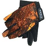 TOOGOO Outdoor Sports Fishing Gloves Exposed 3 Fingers Gloves Anti-Hook Waterproof Gloves Wear Camouflage Fishing Gloves Orange Camouflage