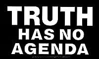 """Truth Has Noアジェンダ–磁気バンパーステッカー/デカールマグネット( 5.5"""" X 3"""" )"""