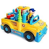 KonigキッズHappy動物バスwith音楽とライトLearningおもちゃfor赤ちゃん幼児用 988