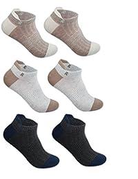 男性の夏の薄いセクションの消臭靴下(6パック)通気性の脱臭剤 ( 色 : #1 )