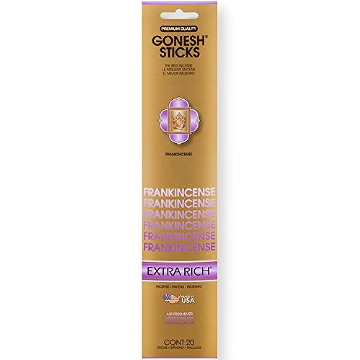 なめらかな生理よろめくGonesh Incense Sticks Extra Richコレクションバルク – Frankincense 12パック合計240 )