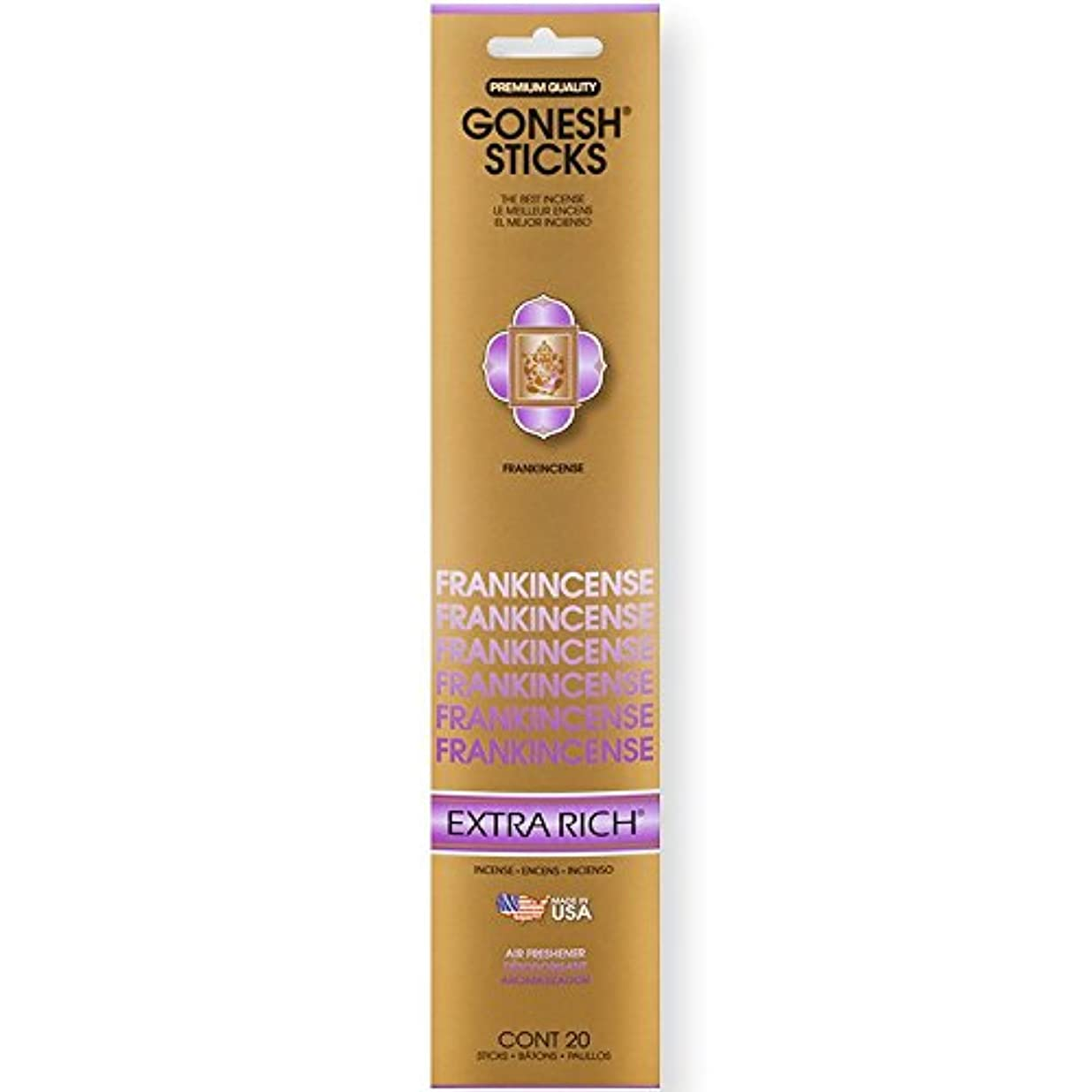 残りアライアンス回路Gonesh Incense Sticks Extra Richコレクションバルク – Frankincense 12パック合計240 )