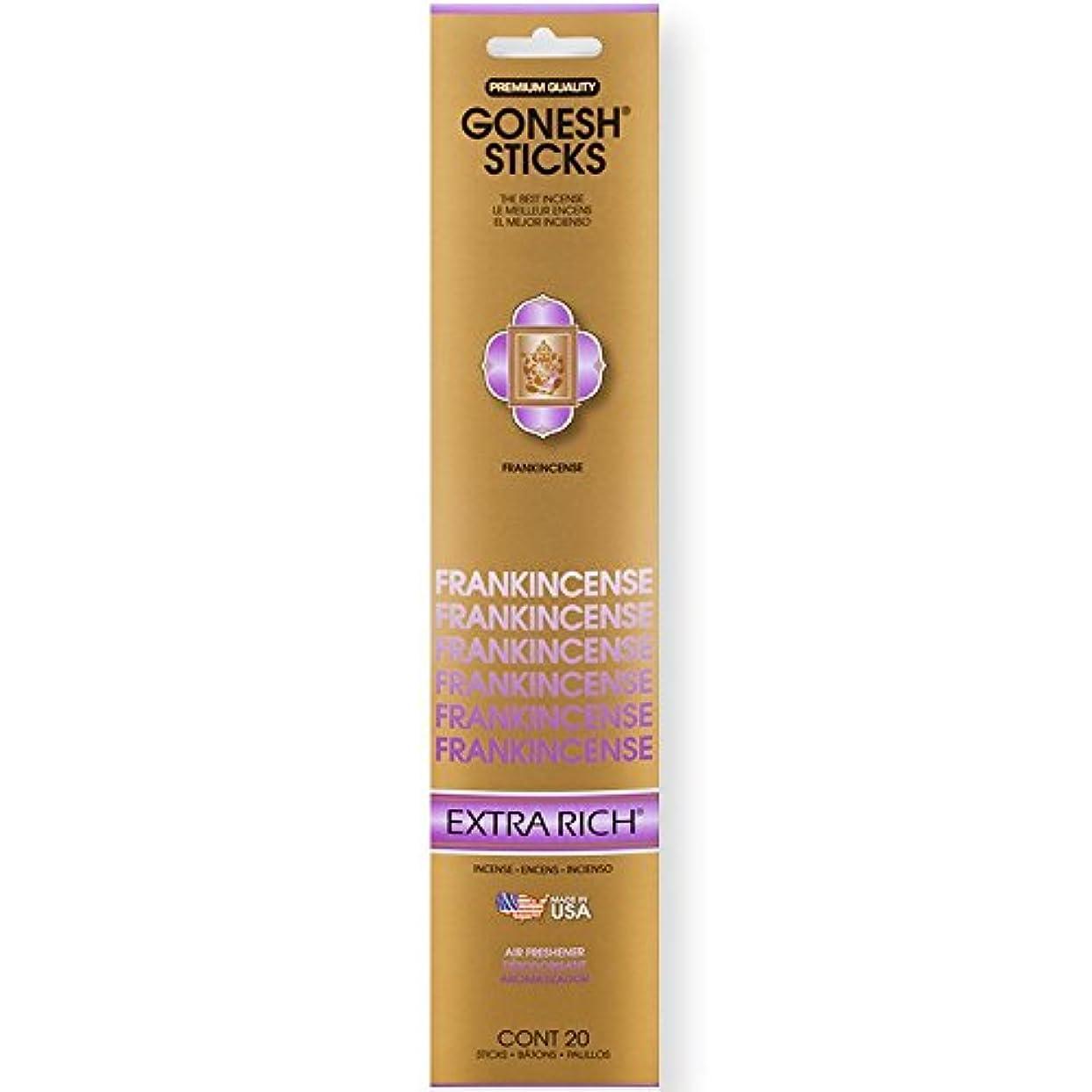 Gonesh Incense Sticks Extra Richコレクションバルク – Frankincense 12パック合計240 )