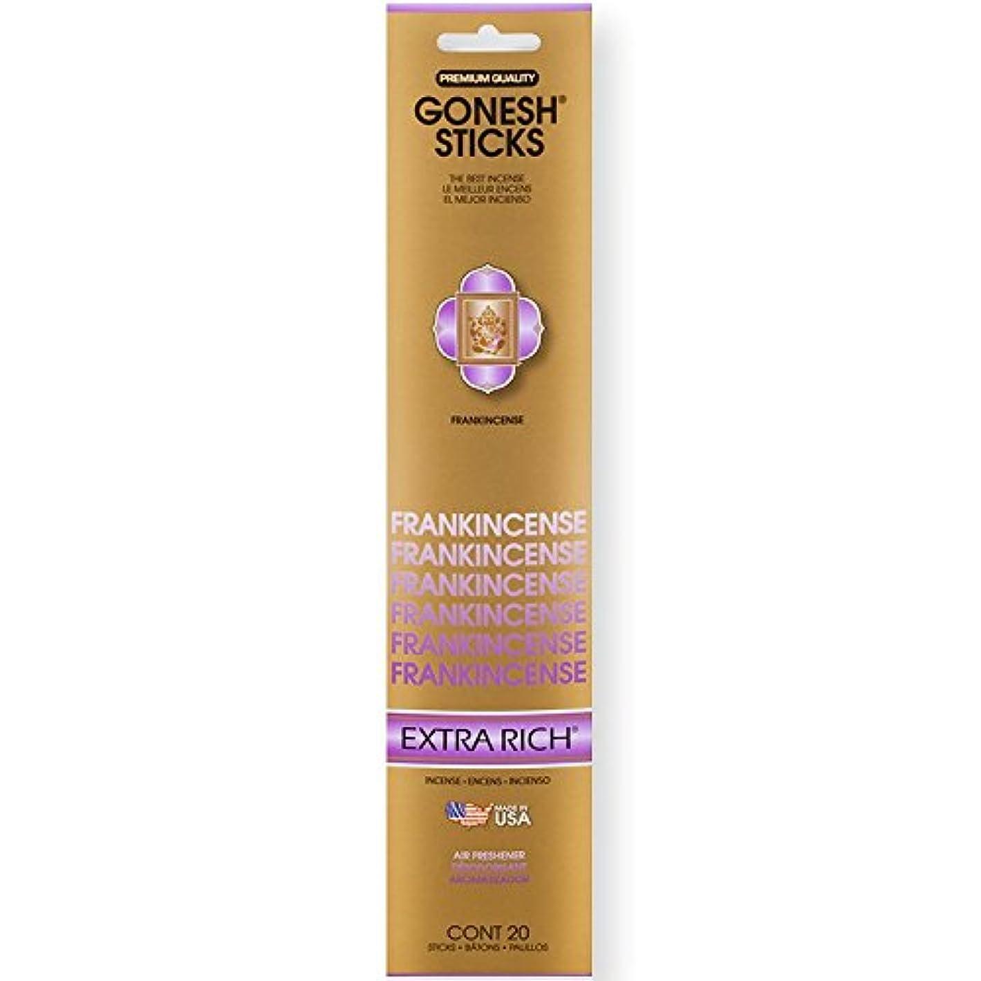 腰脆い語Gonesh Incense Sticks Extra Richコレクションバルク – Frankincense 12パック合計240 )
