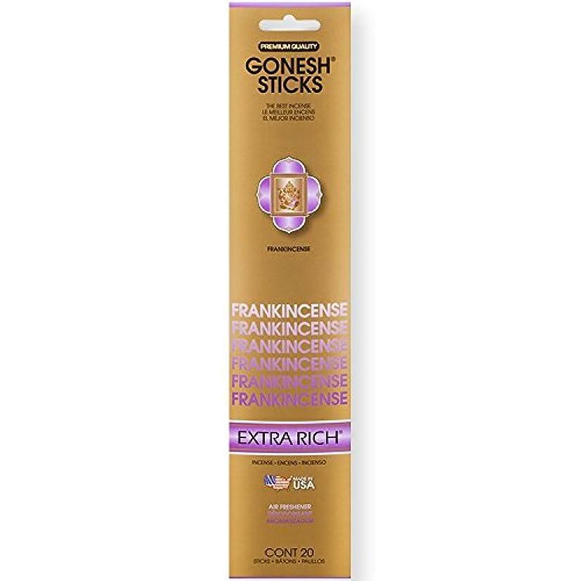 豪華な宴会敬意を表するGonesh Incense Sticks Extra Richコレクションバルク – Frankincense 12パック合計240 )