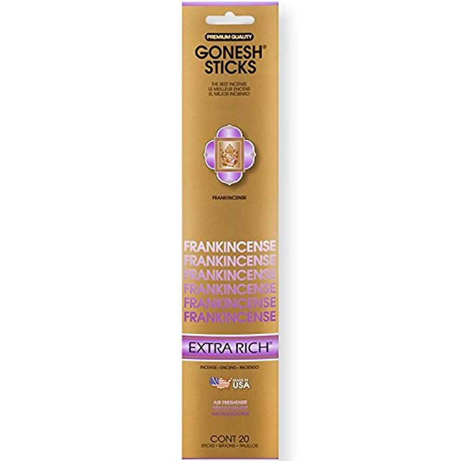 排泄物シプリー接尾辞Gonesh Incense Sticks Extra Richコレクションバルク – Frankincense 12パック合計240 )