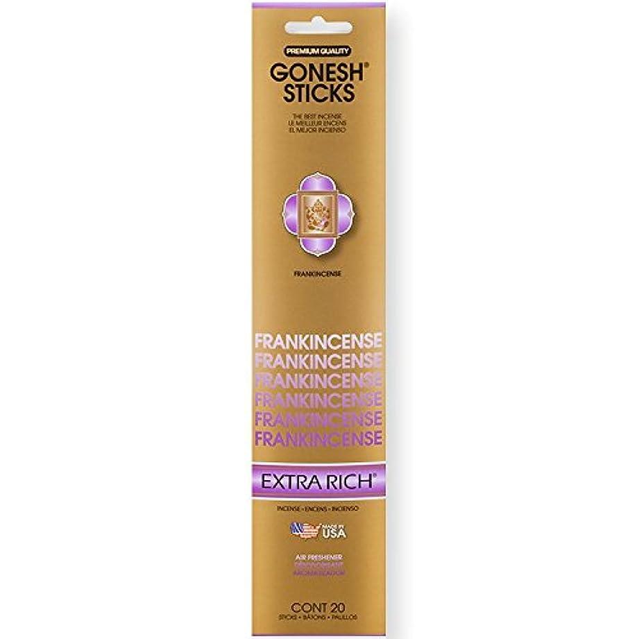 マディソンタッチスペードGonesh Incense Sticks Extra Richコレクションバルク – Frankincense 12パック合計240 )