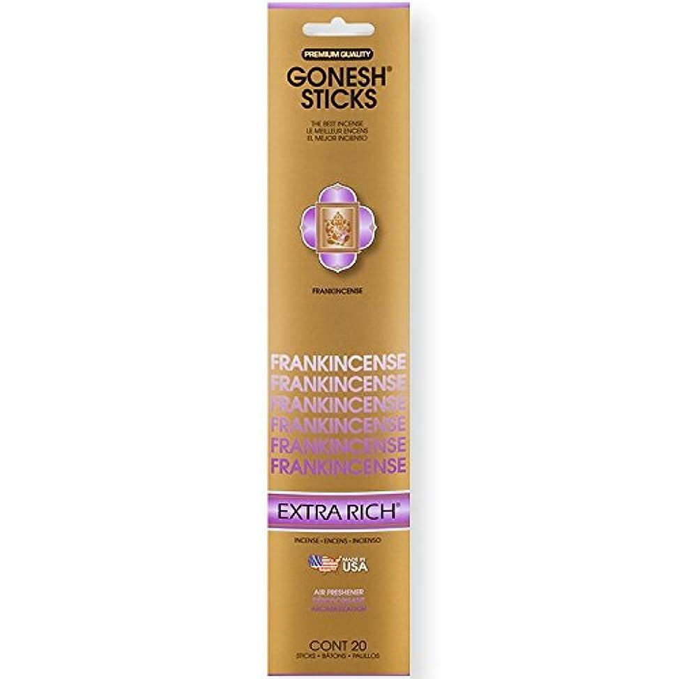 盆自然公園酒Gonesh Incense Sticks Extra Richコレクションバルク – Frankincense 12パック合計240 )