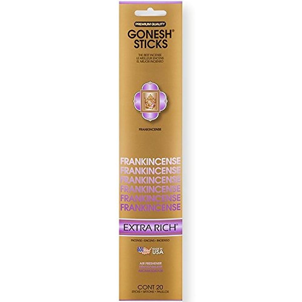 庭園豊富櫛Gonesh Incense Sticks Extra Richコレクションバルク – Frankincense 12パック合計240 )