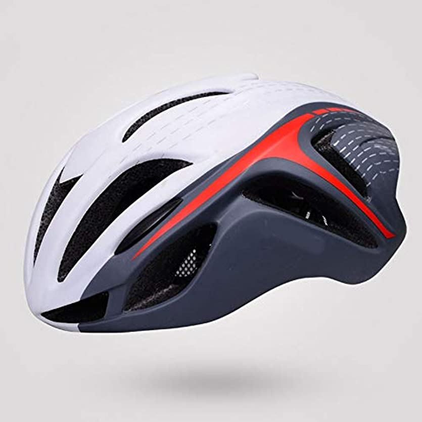 キュービック取り付けトランペットHYH 軽量自転車自転車ヘルメット安全性と ワンピースの乗馬用ヘルメット男性と女性の乗馬用帽子 いい人生 (色 : Red White)