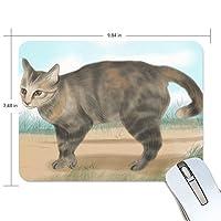 マウスパッド 猫 疲労低減 ゲーミングマウスパッド 9 X 25 厚い 耐久性が良い 滑り止めゴム底 滑りやすい表面