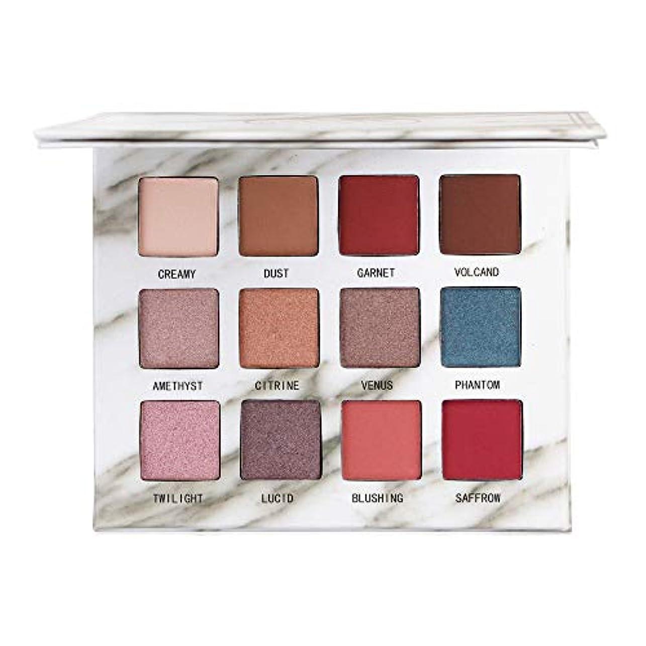 神経コンソール司法12色のきらめきのきらめきのアイシャドウの粉のマットのアイシャドウの化粧品の構造