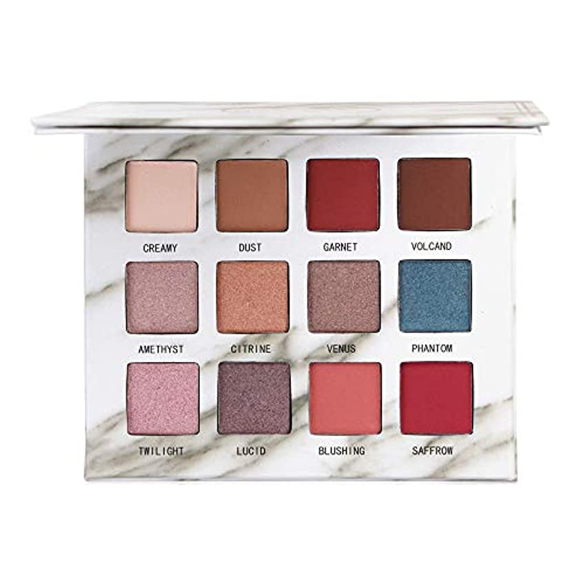 カラス成功自発的12色のきらめきのきらめきのアイシャドウの粉のマットのアイシャドウの化粧品の構造
